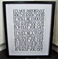 The Jam / Start A3 size typography lyric art print/poster
