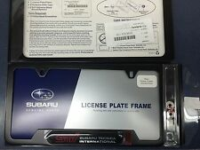 "Genuine Subaru Impreza ""STi"" Black License Plate Frame SOA342L126 NEW STi OEM !!"