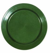 4 x PLATE GREEN ARMY STYLE PLASTIC UNBREAKABLE OUTDOOR CAMPING CATERING PLATES