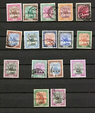 British Sudan. 1898-1936. A selection of 'camels' inc SG perfins