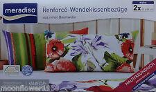 NEU 2 Renforcé Wendekissenbezüge Kissenbezüge 40 x 80 cm Weiß Rot Grün Baumwolle