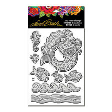LAUREL BURCH RUBBER STAMPS CLING MERMAID FISH NEW cling STAMP + TEMPLATE