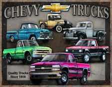Chevy Truck Tribute #1747 Vintage reproduction, Garage, Man Cave Metal/tin