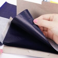 50PCS Double-Sided Blue Carbon Paper 48K Thin Kind Finance Office Stationery