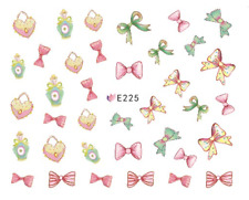 Nail Art 3D Decals Transfers Stickers Jo Bows Heels (E225)