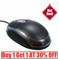 Wired USB Optical Mouse PC Laptop Computer Scroll Wheel Home Office Gaming Mice