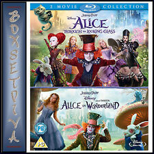 ALICE IN WONDERLAND & ALICE THROUGH THE LOOKING GLASS   **BRAND NEW BLURAY**