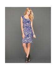 INC International Concept Dress Animal print self tie Blue PL $79