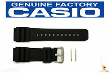 CASIO AMW-S320 Original 20mm Black Rubber Watch Band Strap w/ 2 Pins AW-90H