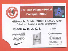 Orig.Ticket    Berliner Landespokal  08/09  FINALE  UNION BERLIN - TEBE BERLIN !