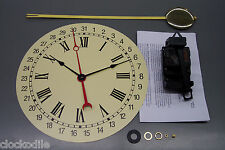 NEW QUARTZ CALENDAR CLOCK PENDULUM MOVEMENT KIT WITH DIAL ~ service repair parts