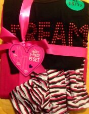 Dreams Do Come True Non Footed Pajama Sets 3 PC Tank Shorts Sleep Pants L or XL