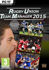 Rugby Union Team Manager 2015 [PC-DVD Computer, Region Free, Pro Sports Sim] NEW