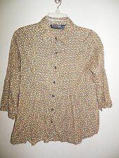 Citicraze Women's Size Medium Multi color Long Sleeve Button Down Blouse