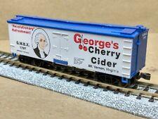 George Washington refrigerator car N scale MDC white Cherry Cider President GWBX