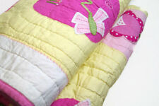Pottery Barn Kids Yellow Pink Flowers Butter Fly Mia Full Queen Quilt New