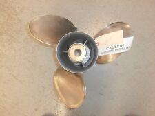 "Used Suzuki Propeller 14.25""X18P 3 blade stainless right hand p/n 99105-0020-18p"