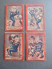 4 Vintage Scraps LOT Comic Sailors At Sea Matelots Parrots Port Navy Scrap Album