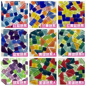 100g DIY Mixed Color Crystal Mosaic Glass Mirror Inlay Tiles Handmade Crafts