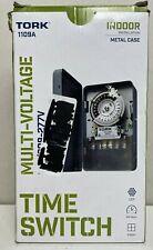 NEW - Tork 1109A Multi-Voltage Time Switch 120/208-277V Indoor Metal Case