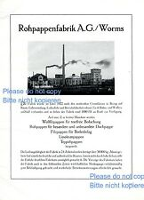 Paper Mill Worms German XL ad Germany advertising factory raw board +