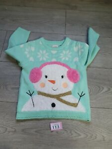Christmas Girls Age 2-3 Years Christmas Jumper From George (P113)