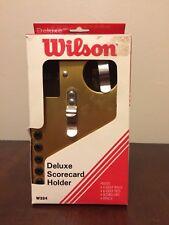Golf Scorecard Holder WILSON Deluxe METAL Attachable