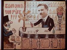 Tableau peinture bar lyonnais Gnafron ami Guignol peintre Lyon Villeurbanne