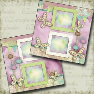 Love Spring - 2 Premade Scrapbook Pages - EZ Layout 3896