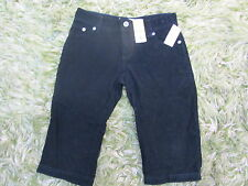 Old Navy Low waist capri pants jeans black light corduroy NEW tags sz 4 stretch