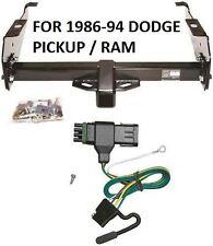 1986-94 DODGE PICKUP / RAM TRAILER HITCH W/ WIRING KIT