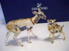 Swarovski Doe & Fawn Golden Shadow Retired 1142843 Bnib