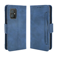 For Asus Zenfone 8, Shockproof Card Slots Magnetic Leather Wallet Case Cover