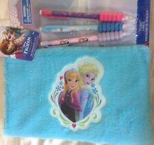 Disney Anna & Elsa Frozen Plush Pencil Case & 3 Pack Mechanical Pencils Set