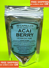 Acai Berry 100% Puro 50 Pillole Detox Grasso Bruciatore Integratore Dietetico