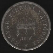 More details for 1916 kb hungary 10 filler coin | european coins | pennies2pounds