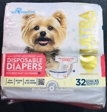 Paw Inspired 32ct Ultra Protection Disposable Dog Diapers Female X-Small