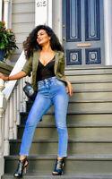 IKRUSH Womens Asha Elasticated Waist Skinny Jeans