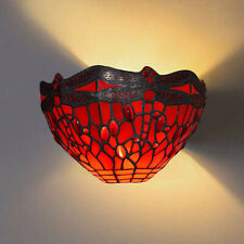 Tiffany Style Wall Lamp Handcrafted Stained Glass shade Night Light Uplighter