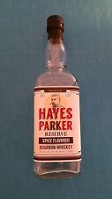 """HAYES  PARKER         """"SPICE  FLAVORED  BOURBON  WHISKEY""""     EMPTY  BOTTLE"""