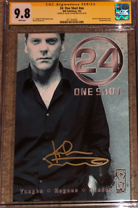 24: One-Shot photo cover variant__CGC 9.8 SS__Signed by Kiefer Sutherland