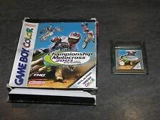 JEU GAME BOY COLOR CHAMPIONSHIP MOTOCROSS 2001 MANQUE NOTICE THQ OCCASION