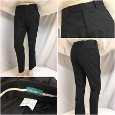 Billy Grey Bespoke Pants 33x29 Gray 100% Wool Flat Front Worn Once YGI 8819