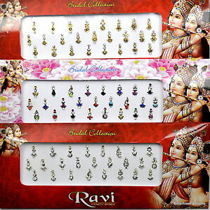 1 PACK of MULTI **Long Multi Pack** Indian BRIDAL Gem TIKKA Festival BINDI