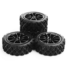 4X For RC 1:10 Rally Racing Off Road Car Rubber Tyre Wheel Hub12mm HEX HPI HSP