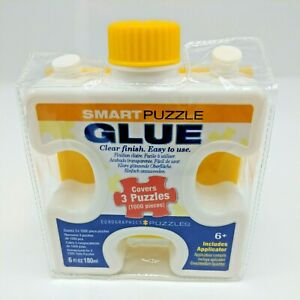 Smart Puzzle Glue, Clear Finish Covers 3 puzzles 1000 pc. Applicator  6 fl. Oz.