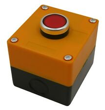 """Push Button Switch Momentary 22mm 7/8"""" with 1-Hole Switch Box + Push Button"""