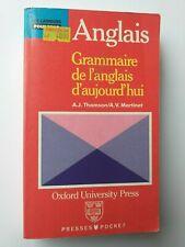 LANGUES POUR TOUS ANGLAIS GRAMMAIRE ANGLAIS D'AUJOURD'HUI 1990 POCHE