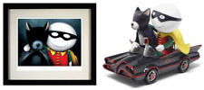 Catman & Robin Sculpture & FRAMED Print by Doug Hyde. New with COA