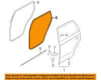 Rear Genuine Hyundai 83120-B8000-RYN Door Weatherstrip Right